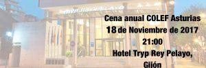 Cena anual COLEF Asturias