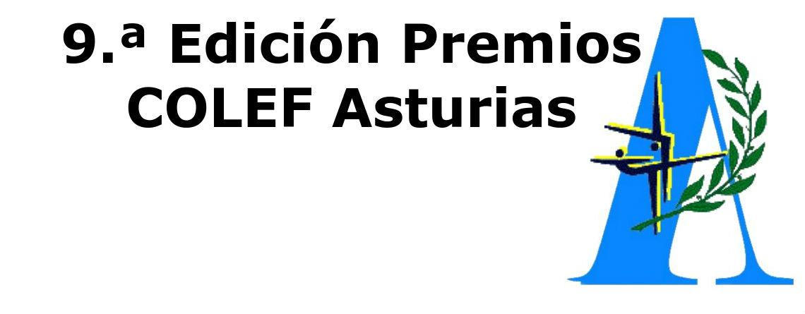 9.ª Edición Premios COLEF Asturias