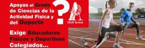 """Campaña """"Exige Educadores Deportivos y Físicos Colegiados"""""""