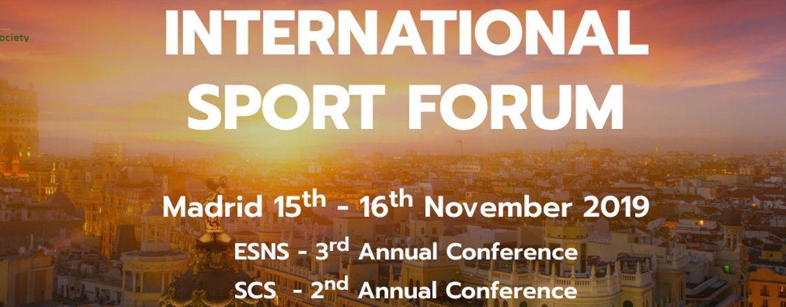 International Sport Forum, descuento para personas colegiadas