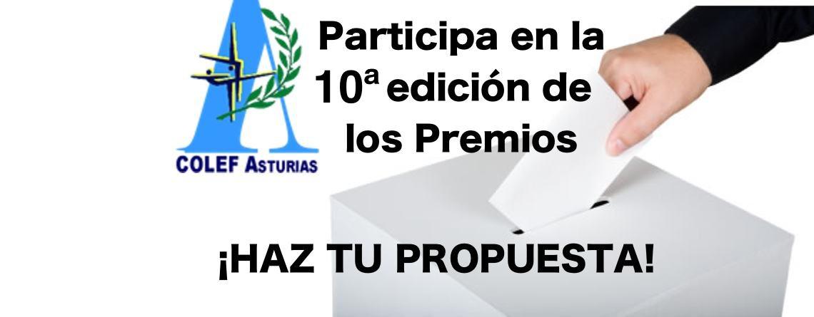 Recepción de candidaturas premios COLEF Asturias 2019