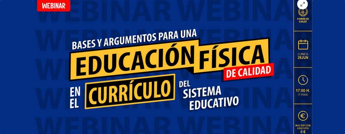Webinar «Bases y argumentos para una EFC en el currículo del sistema escolar»