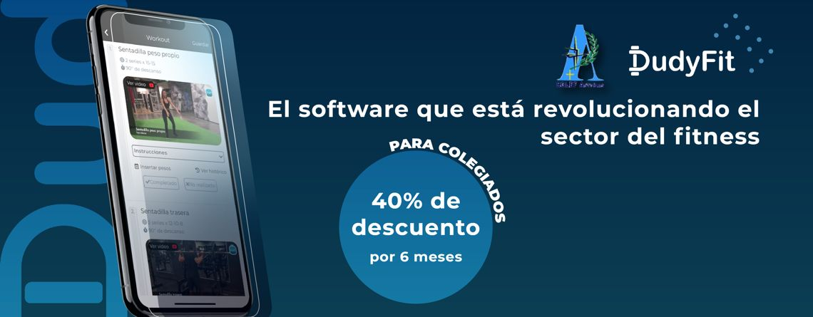 Acceso exclusivo para colegiados de Colef Asturias en el software de entrenamiento DudyFit